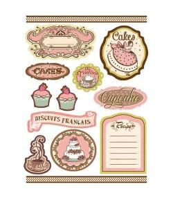 ETIQUETTES PREDECOUPEES CAKES