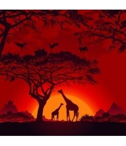 SERVIETTE AFRICAN SUNSET