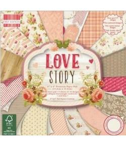 BLOC 64 FEUILLES 15 X 15 CM - LOVE STORY