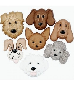 BOUTONS CHIENS X 7