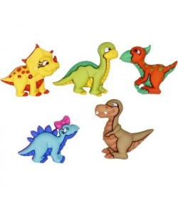 BOUTONS DINOSAURES X 5