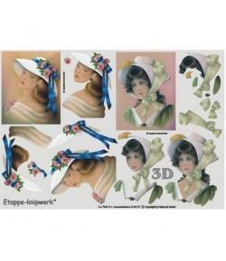 FEUILLE 3D FEMMES ROMANTIQUES
