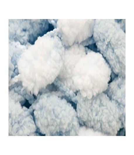 Rico Pompon Pompon-Bleu p/âle - 200 g-/Écharpe en tricot
