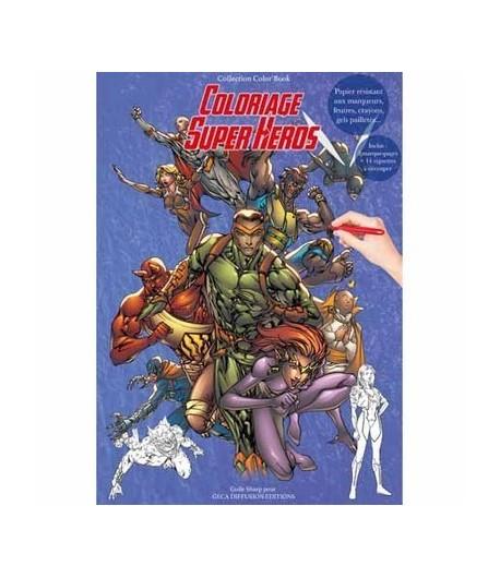 CAHIER COLORIAGE SUPER HEROS