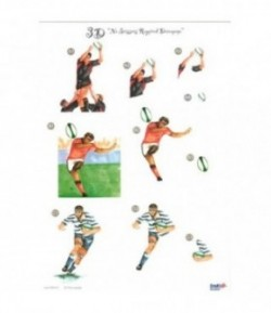 FEUILLE 3D RUGBY UK453