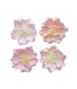 FLEURS GARDENIA ROSE CLAIR X 4