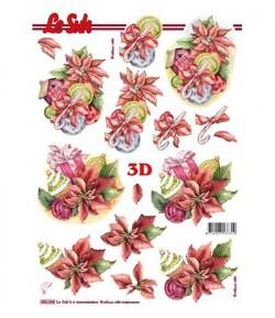 FEUILLE 3D NOEL POINSETTIA