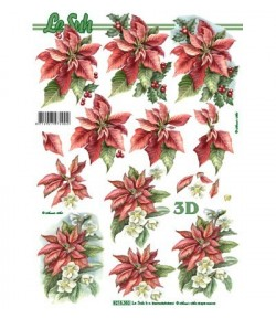 FEUILLE 3D POINSETTIA