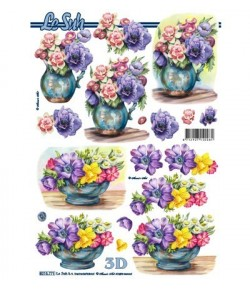 FEUILLE 3D FLEURS 8215771