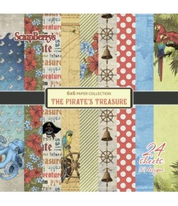BLOC 24 FEUILLES 15 X 15 CM THE PIRATE - SCRAPBERRY'S