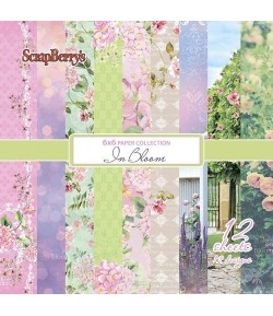 BLOC 12 FEUILLES 15 X 15 CM IN BLOOM - SCRAPBERRY'S