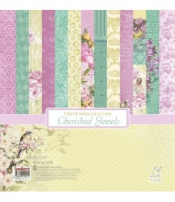 BLOC 14 FEUILLES 30.5 X 30.5 CM CHERISHED JEWELS - SCRAPBERRY'S