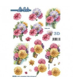 FEUILLE 3D BOUQUET 680088