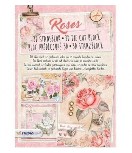 BLOC 3D A4 ROSES RO41