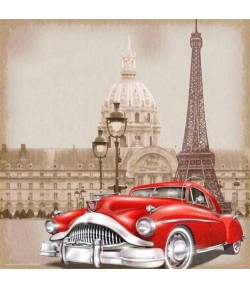IMAGE 3D CAR IN PARIS 30X30 GK3030072