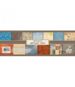 BLOC 7 FEUILLES 30X30 ANTIQUE SHOP - SCRAPBERRY'S