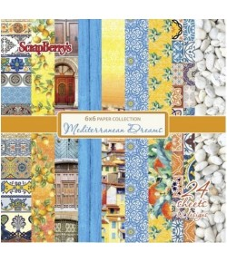 BLOC PAPIER 15X15 MEDITERRANEAN DREAMS - SCRAPBERRY'S