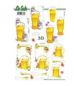 FEUILLE 3D CHOPES BIERE 680037