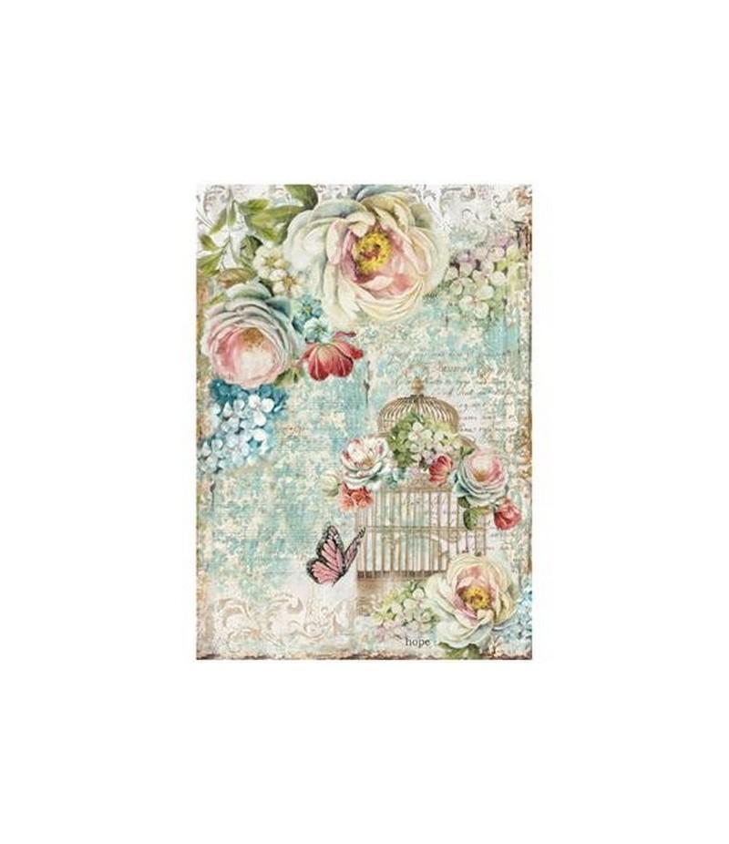 papier de riz a4 papillons 21 x 29 7 cm doigts de f es. Black Bedroom Furniture Sets. Home Design Ideas