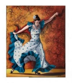 IMAGE 3D DANSEUSE FLAMENCO 24X30