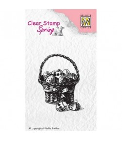 TAMPON CLEAR PANIER PAQUES 4X5.7CM