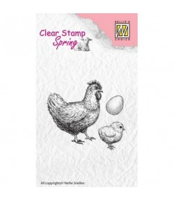 TAMPONS CLEAR POULE POUSSIN OEUF SPCS004