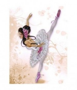 IMAGE 3D LILOU BALLERINE 30X40 GK3040029