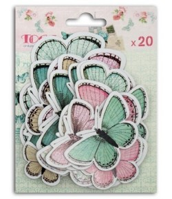 PAPILLONS SHABBY LOVE X 20