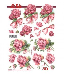 FEUILLE 3D ROSES 680072
