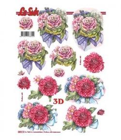 FEUILLE 3D FLEURS 680074
