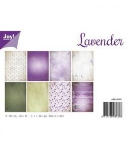 BLOC PAPIER 12 FEUILLES  21 X 29.7 CM - LAVANDER - JOY CRAFT