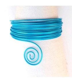FIL ALU TURQUOISE 2MM - TURQUOISE 5M