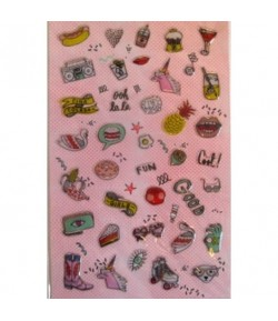 STICKERS MAGICAL SUMMER COOL ICONS