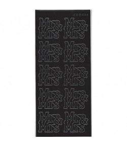 STICKERS MR ET MRS NOIR