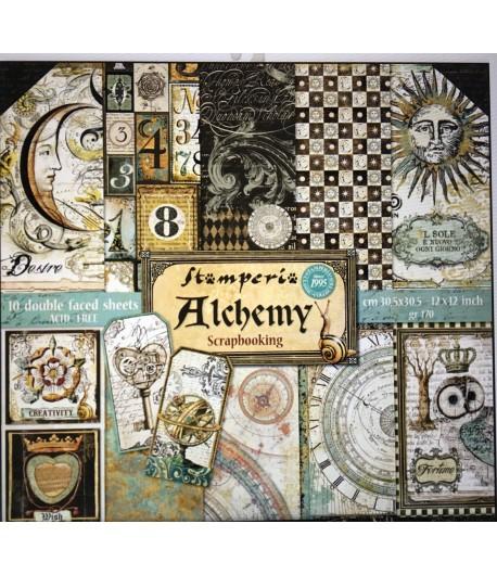 BLOC 10 FEUILLES ALCHEMY 30X30 SBBL34