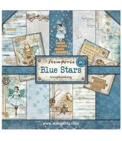 BLOC 20 FEUILLES BLUE STARS 20X20 SBBLQ02