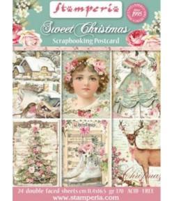 BLOC 24 CARTES SWEET CHRISTMAS 11.4X16.5