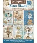 BLOC 24 CARTES BLUE STARS 11.4X16.5