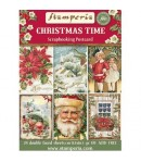 BLOC 24 CARTES CHRISTMAS TIME 11.4X16.5
