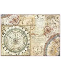 PAPIER DE RIZ ASTRONOMIE 33 X 48 - DFS392