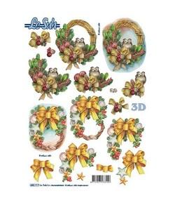 FEUILLE 3D DECOS NOEL 680117