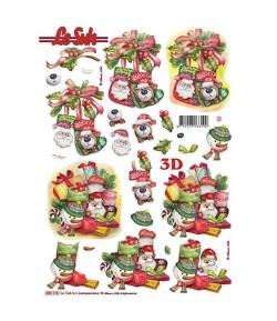 FEUILLE 3D DECOS NOEL 680118