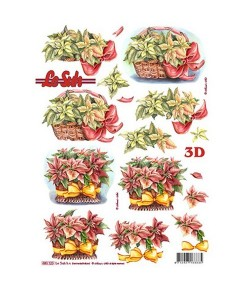 FEUILLE 3D POINSETTIAS 680120