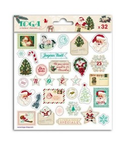 STICKERS EPOXY DEAR SANTA