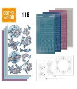 KIT 3D DOT OISEAUX BLEUS - 116