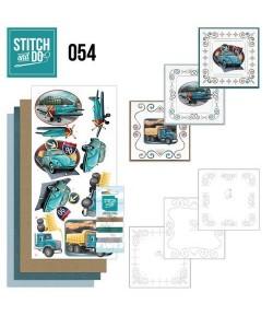 KIT 3D A BRODER VEHICULES VINTAGE STDO054