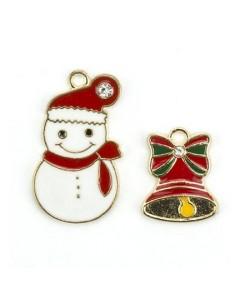 CHARMS CHRISTMAS SNOWMAN ET CLOCHE