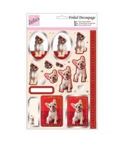 FEUILLE 3D PUPPY LOVE METAL 169834