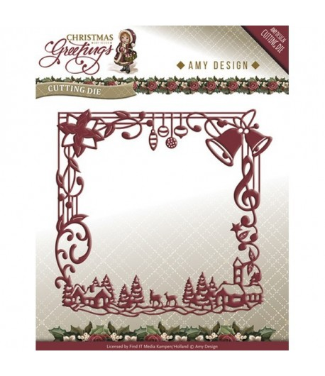 DIE CHRISTMAS GREETINGS FRAME - AMY DESIGN