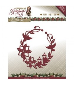 DIE CHRISTMAS GREETINGS ORNAMENT